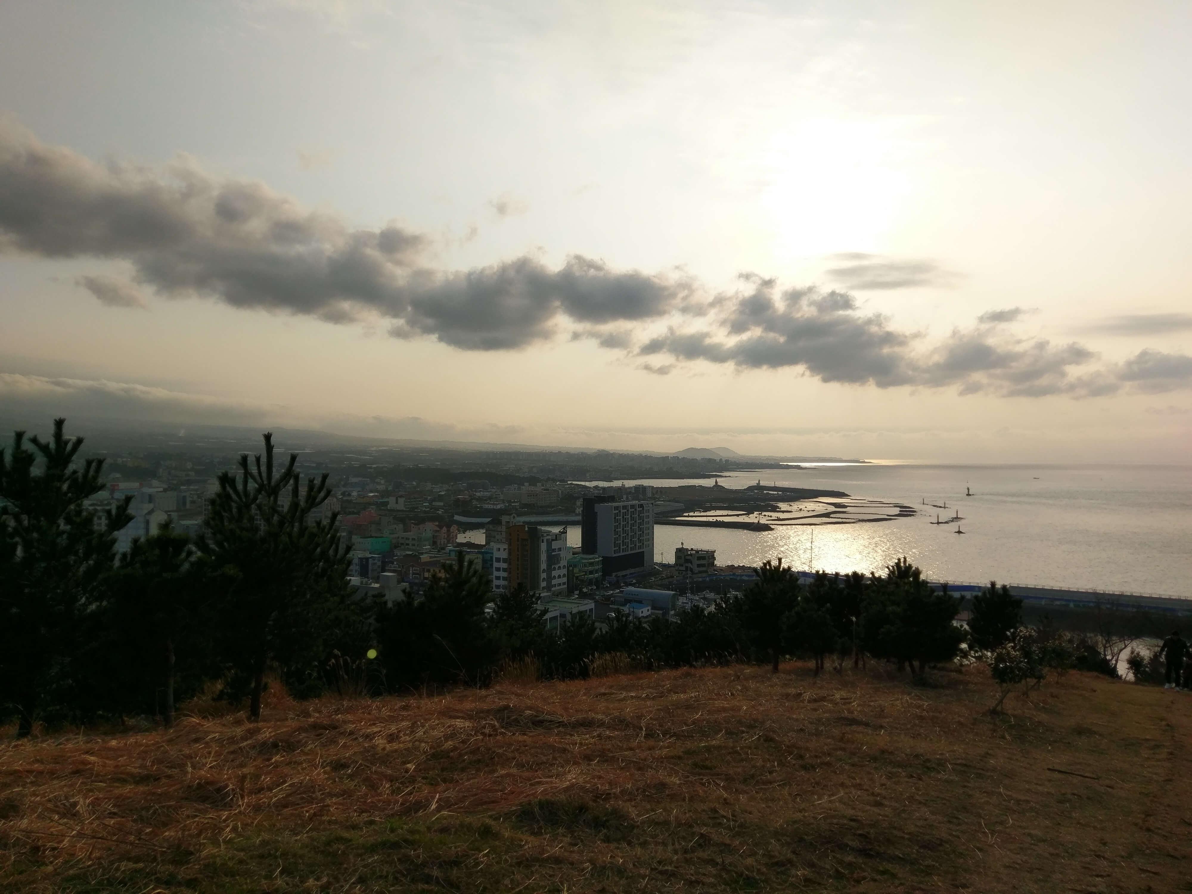 Hillside view of Jeju