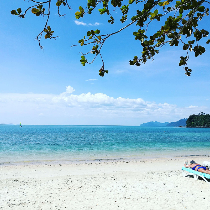 How the beach looked like in Langkawi