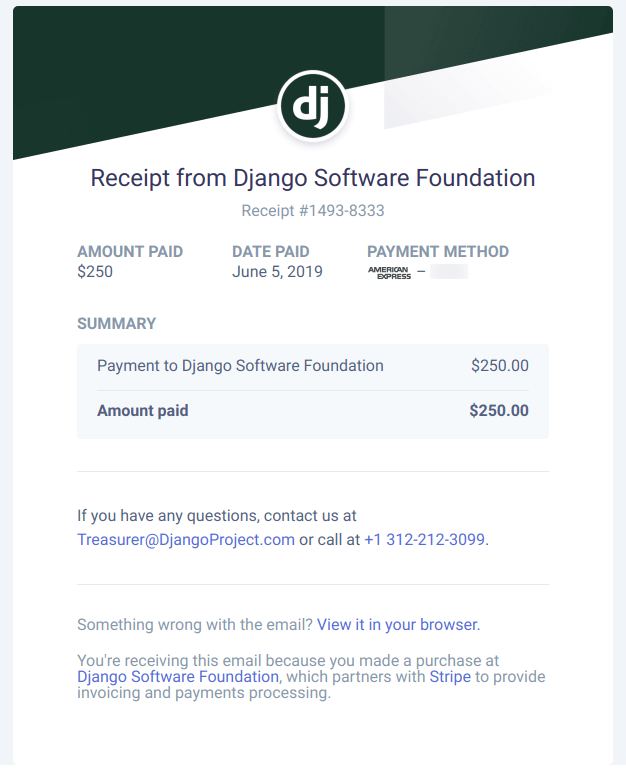 DSF donation