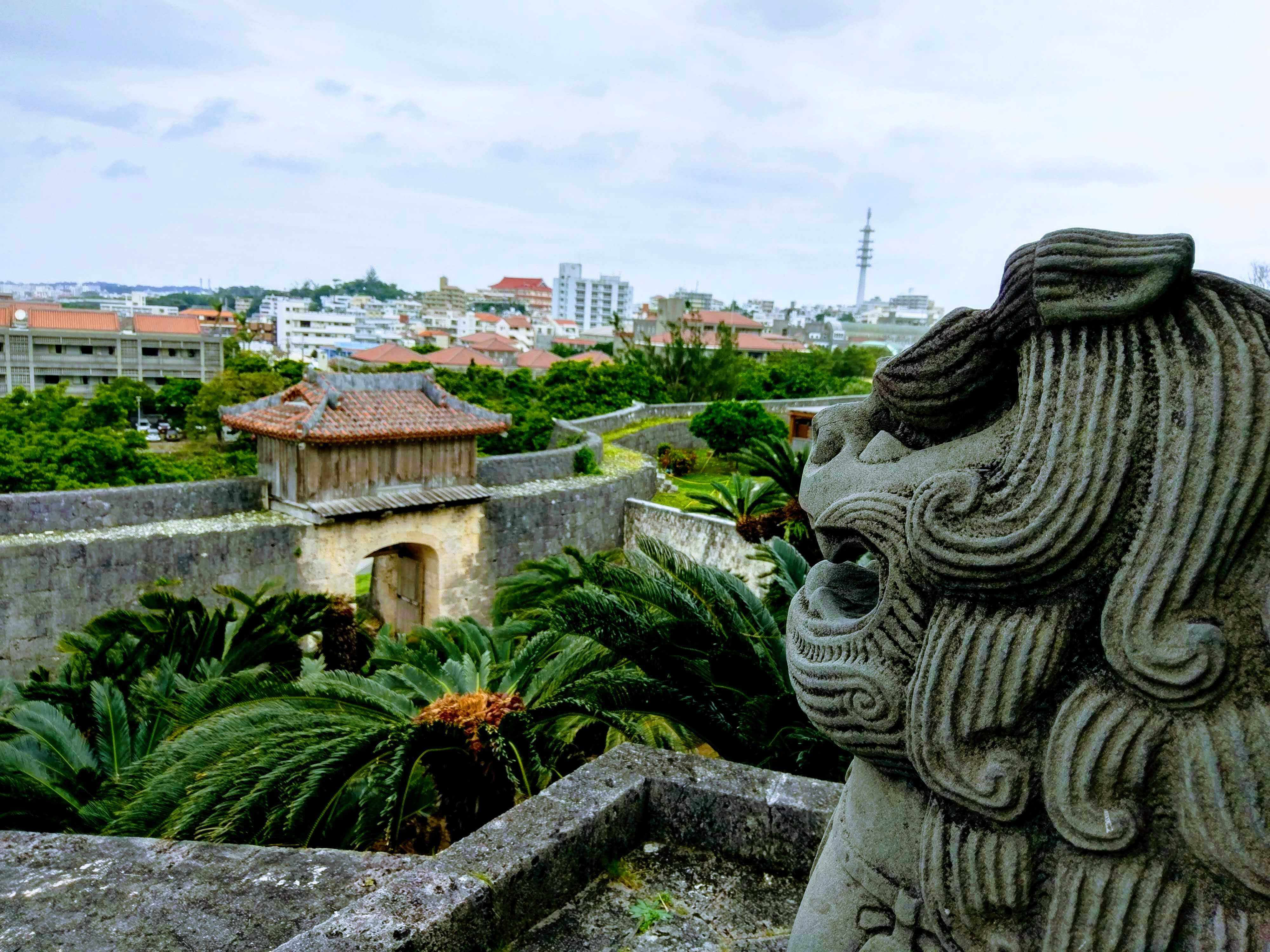 View from Syuri Castle