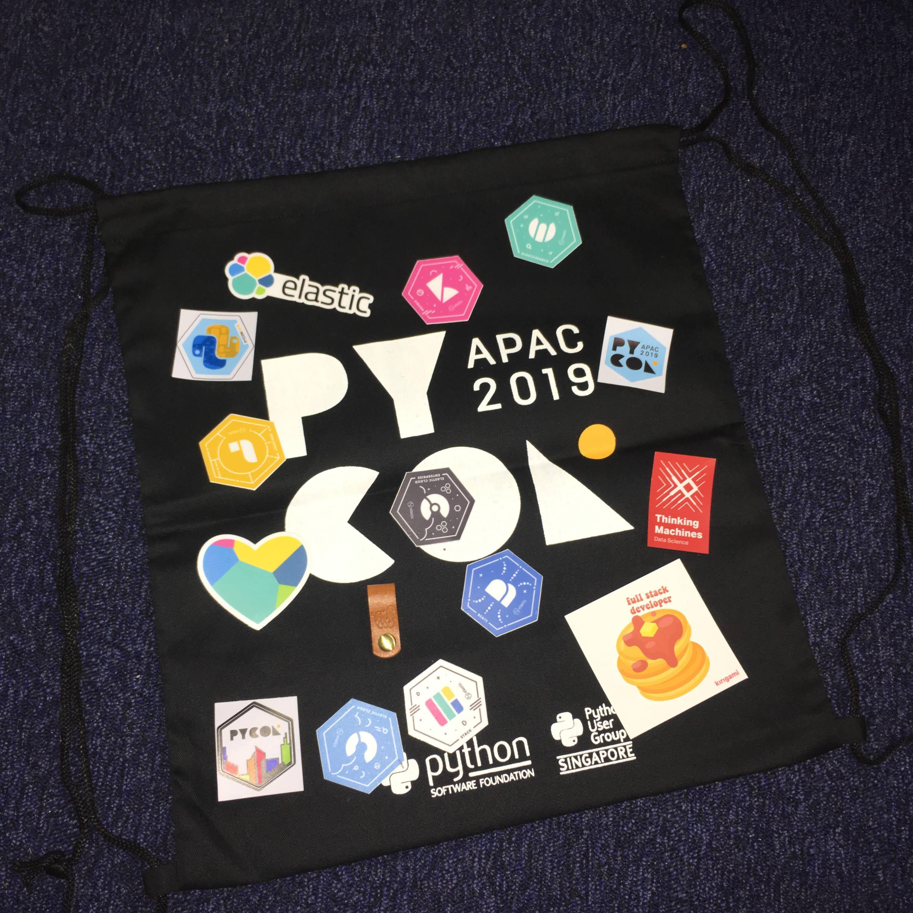 PyCon APAC Loot bag