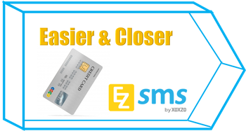 [EZSMS] Pay by Credit Card is now easier and closer