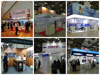 Exhibitors from various countries