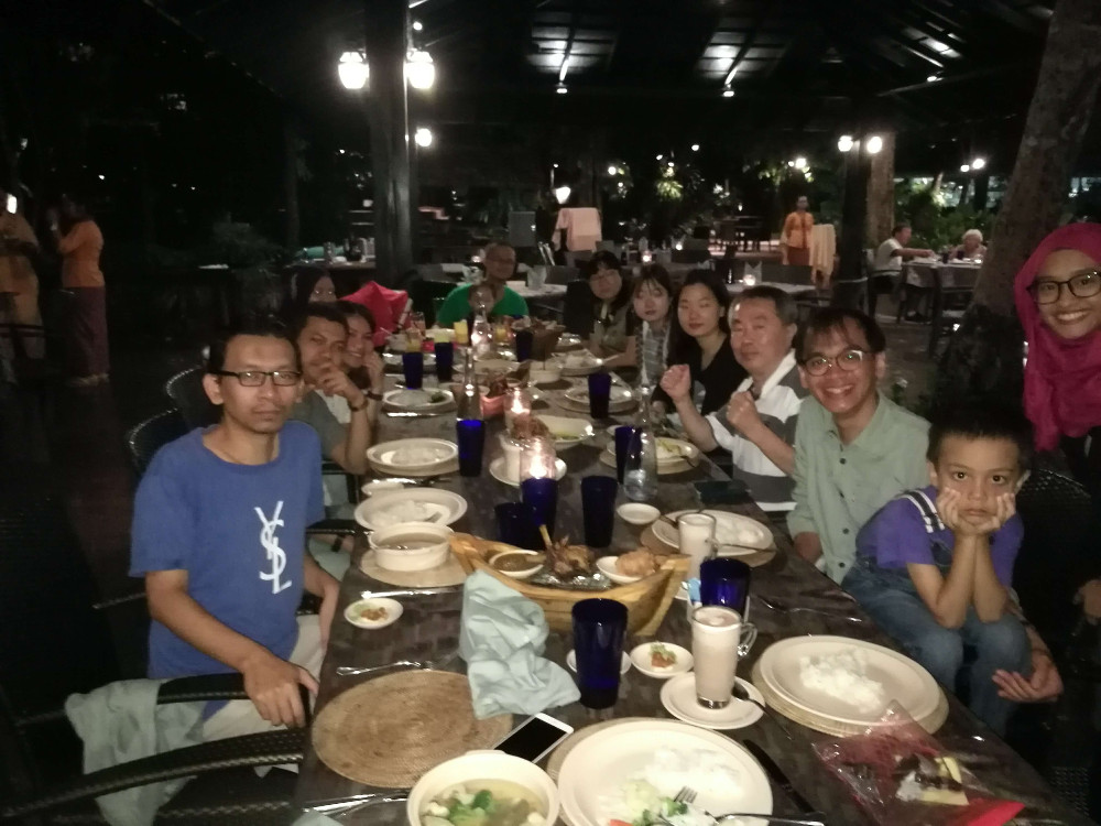 Our dinner on the first night at Tepian Laut