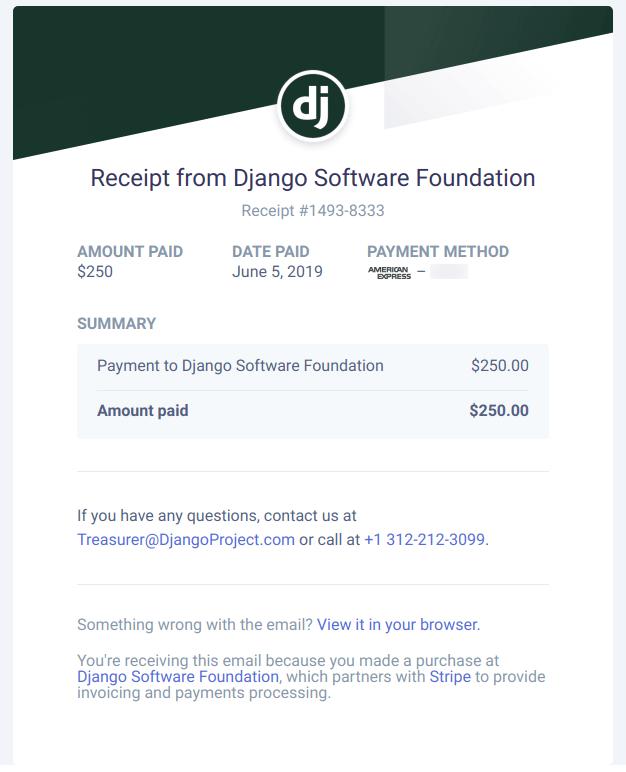 DSF donation