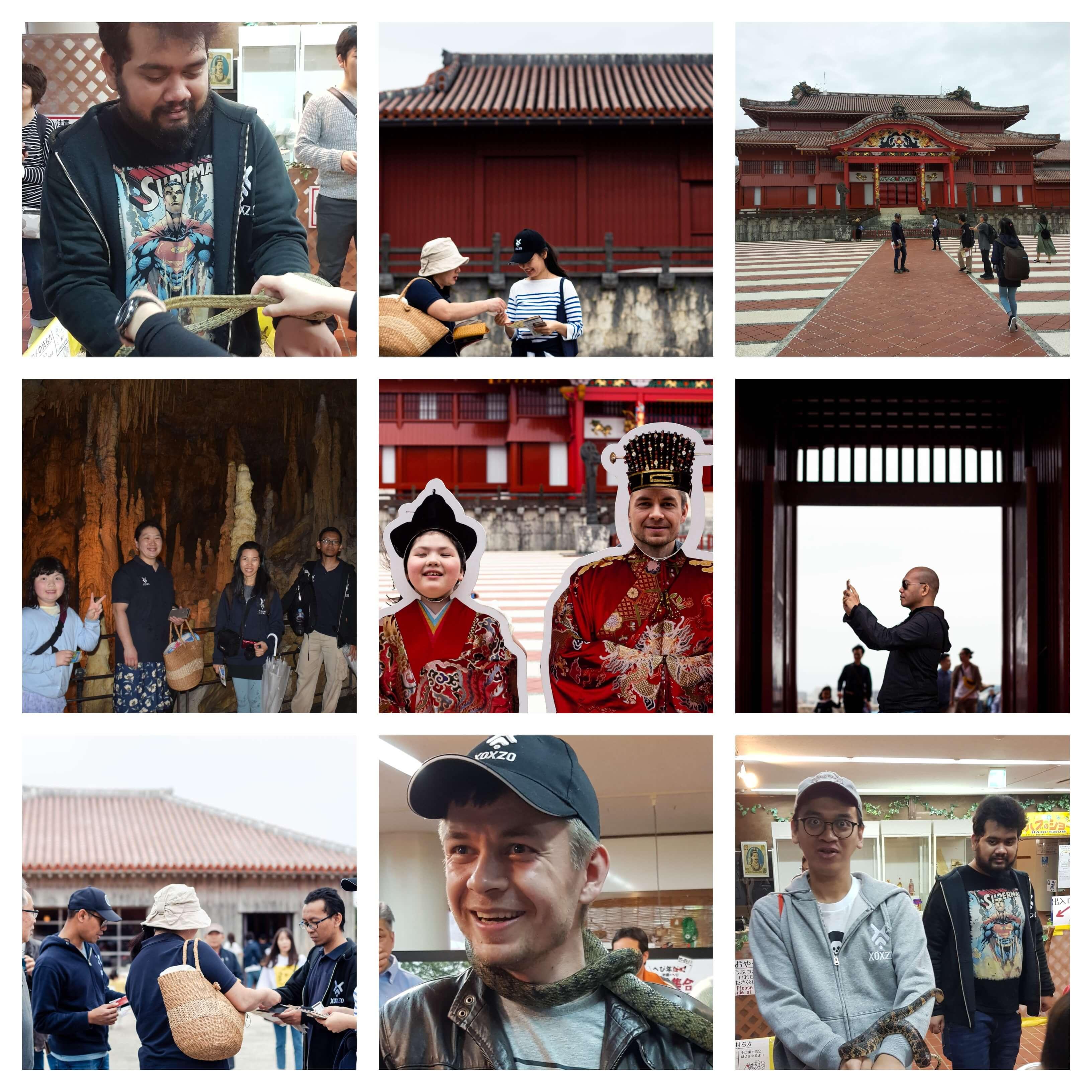 Xoxzo team excursion collage
