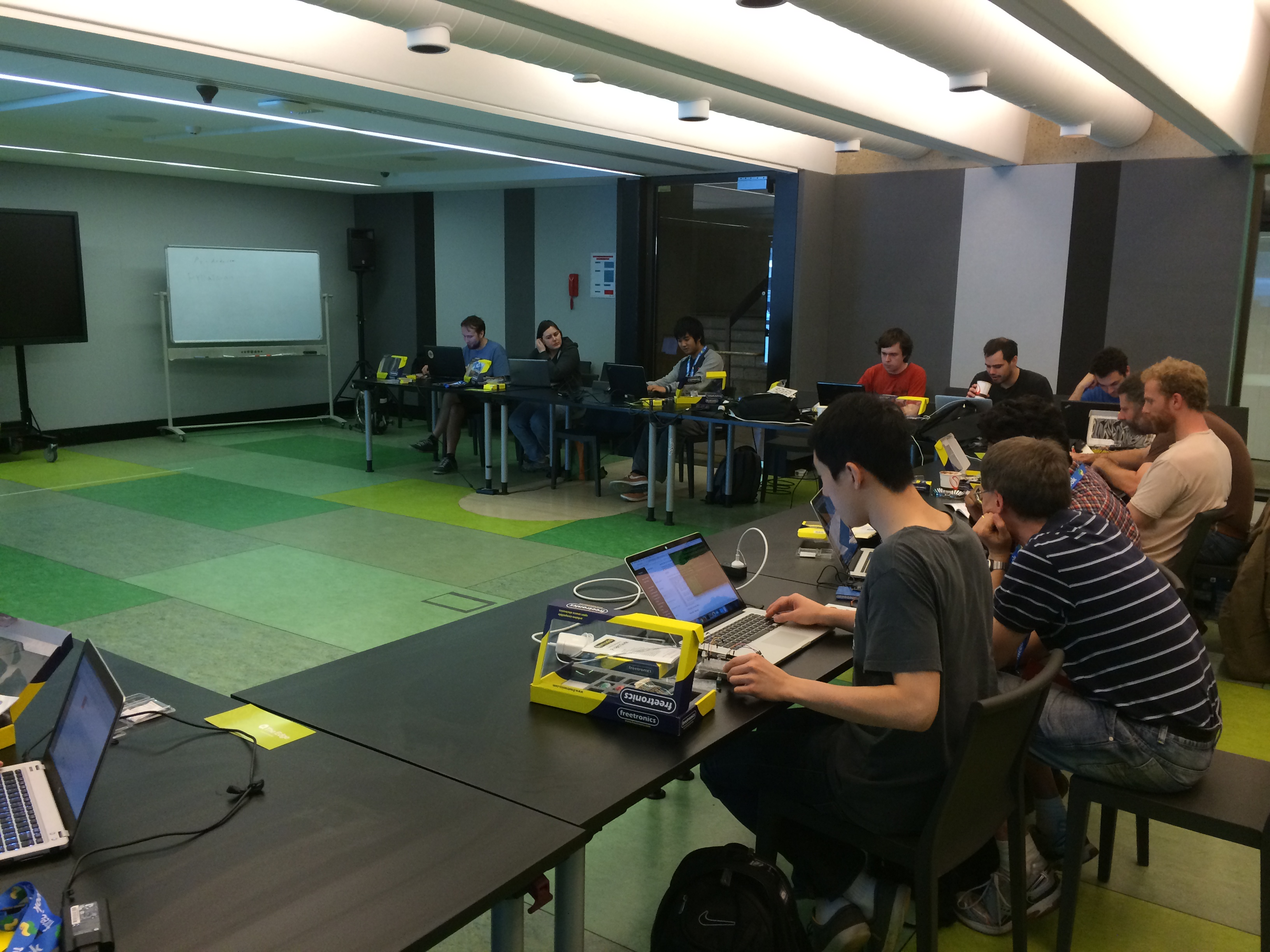 Electronics workshop at PyCon AU 2015