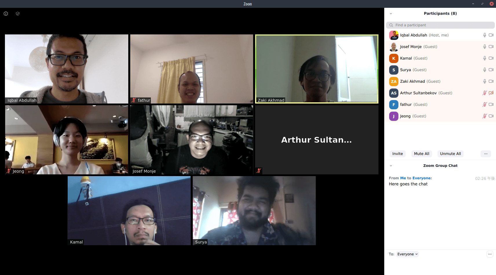 How Zoom meetings look like