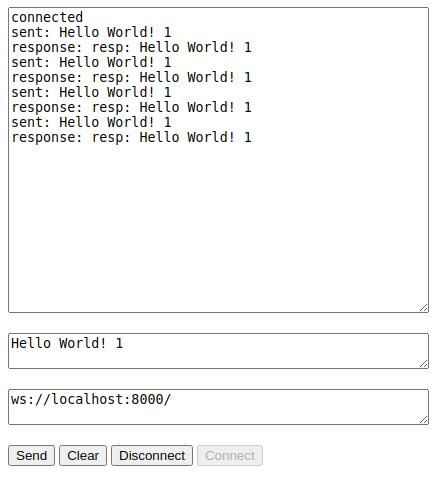 websocket dialog